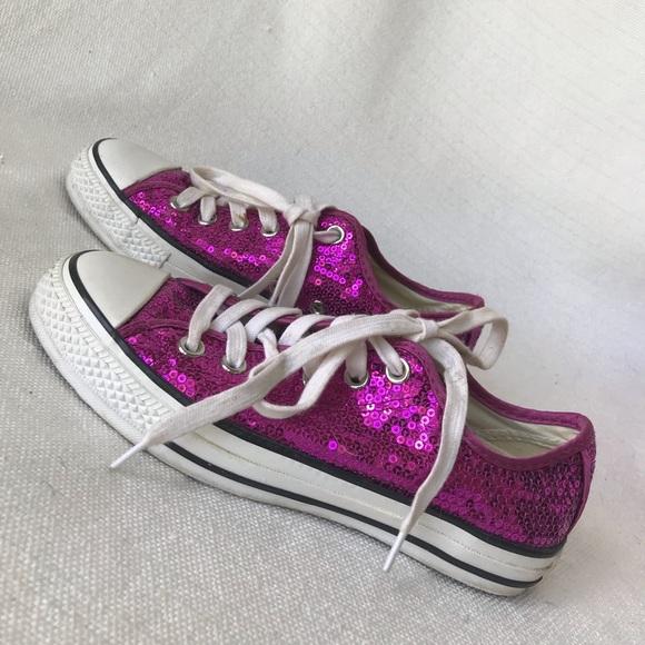 8e0b6fcb6b46 Converse Shoes - HOT PINK SEQUINS CONVERSE sneakers